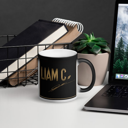 Liam C. Matte Black Magic Mug