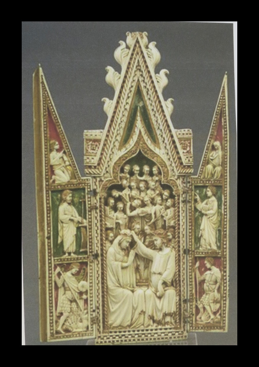 The coronation of The Virgin triptych 1360 -70