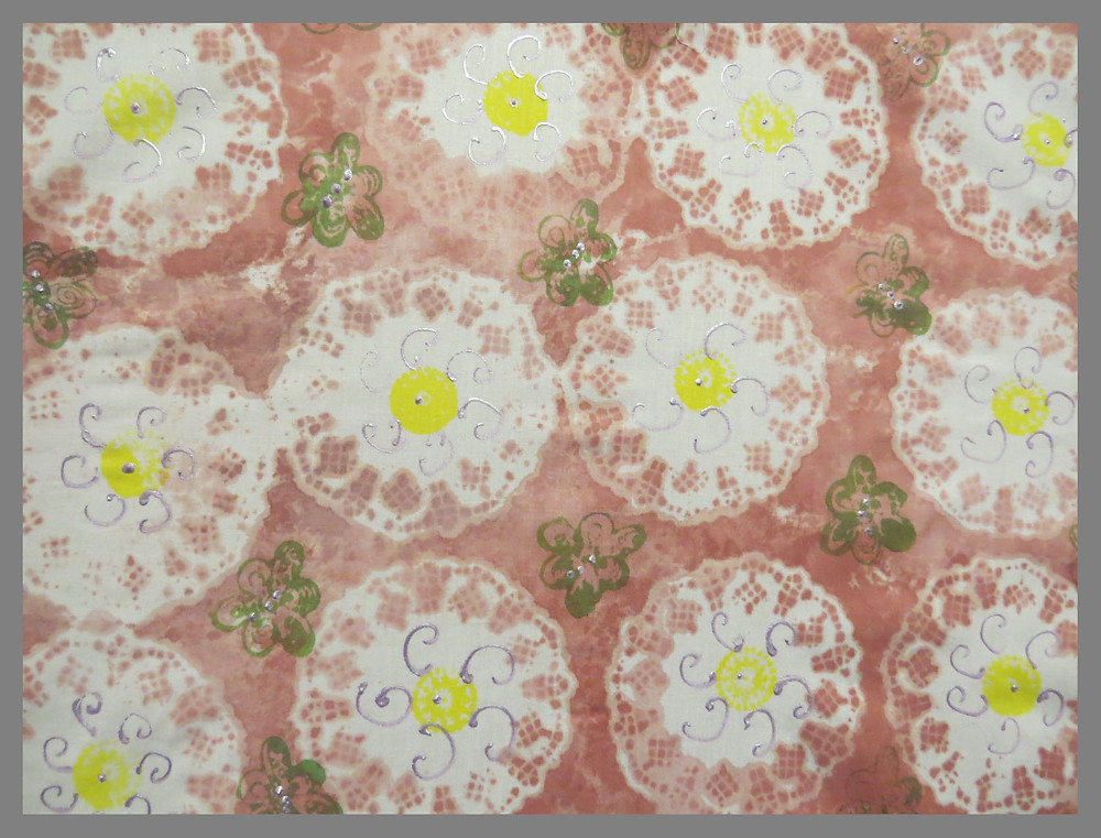 Acrylic paint, stencil & print