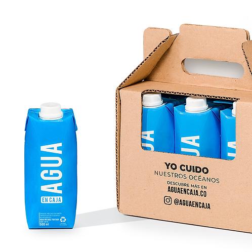 Six Pack Agua en Caja 500ml