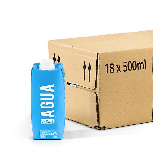Agua en Caja 500ml - Pack x18