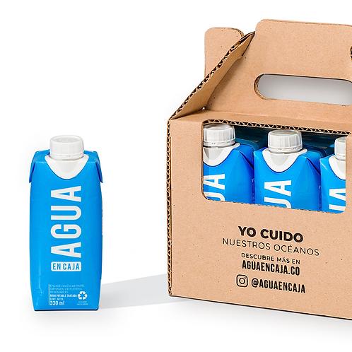 Six Pack Agua en Caja 330ml