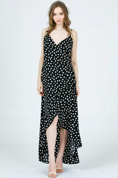 BLACK/WHITE CHECKERED DRESS