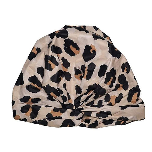 LUXE SHOWER CAP - LEOPARD