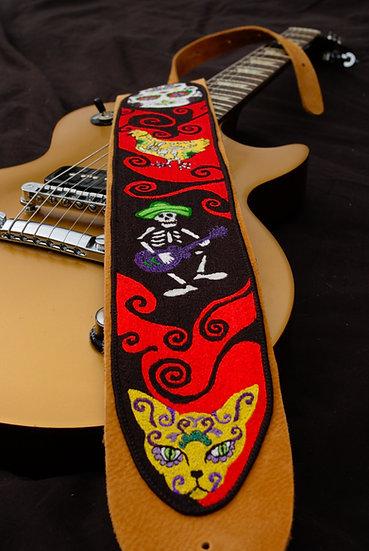 Dia de Muertos Guitar Strap