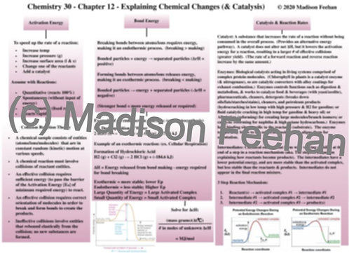 Chemistry 30 Chapter 12 Chart