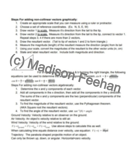 Physics 20 Notes Package