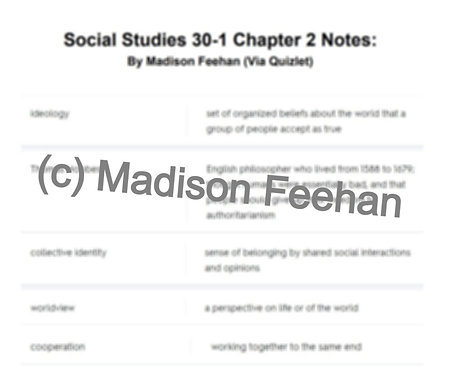 Social Studies 30-1 Chapter 2 Notes