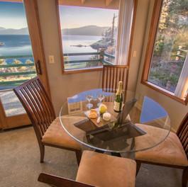 Landmark Orcas Lodging Dining Room Water View