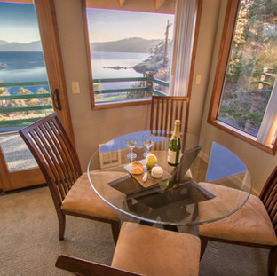 Landmark Orcas Lodging Dining Room Water View