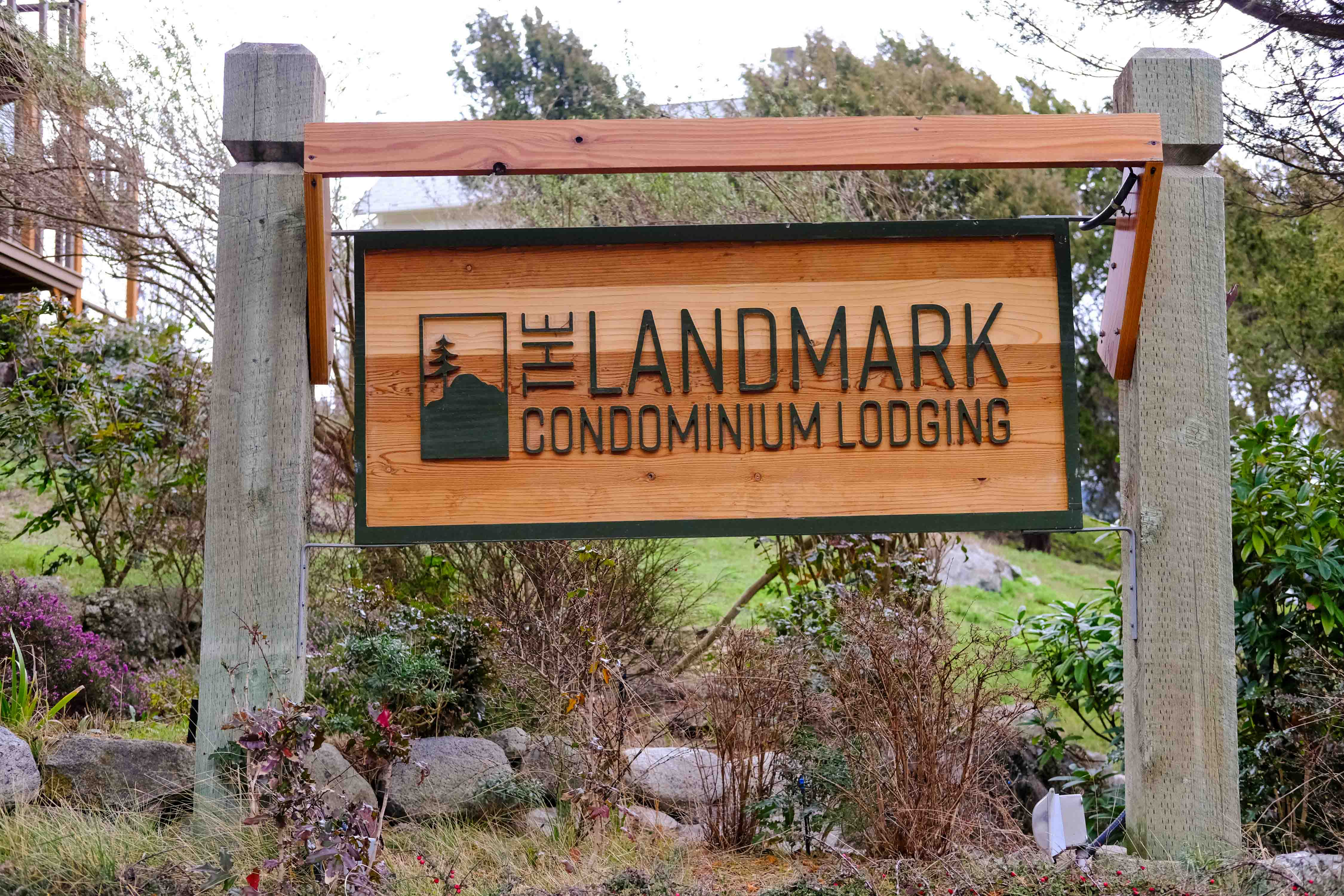 The Landmark Orcas Island Sign