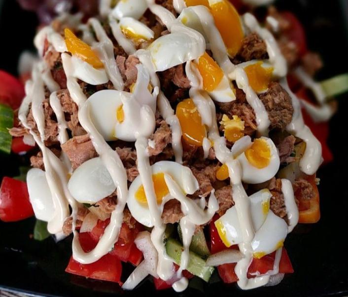 bowl of Tuna and Egg Salad