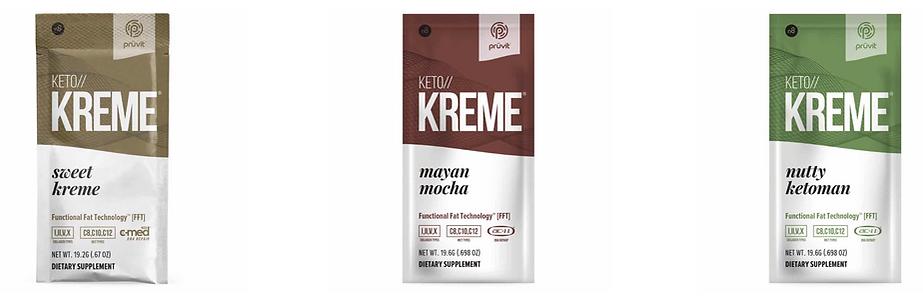 Keto Kreme Flavors