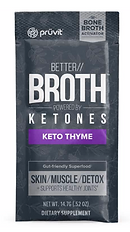 Pruvit's Keto OS Better Broth Keto thyme Ketones