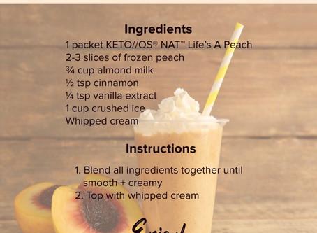 Peach Cobbler KRAPPEKETO  KETO//OS® NAT™ Life's A Peach!