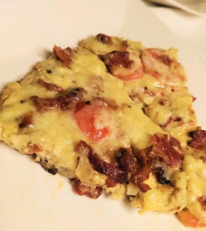 Slice of Bacon Cauliflower Frittata