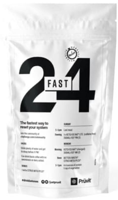 Pruvit's 24 hour fast