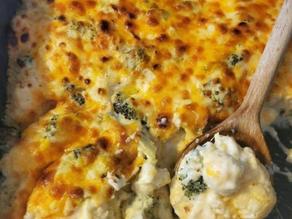 Broccoli & Cauliflower Cheese Casserole