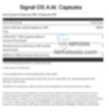 Pruvit's Signal OS Am Ingredients