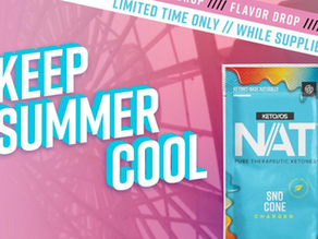 Keep Summer Cool with KETO//OS NAT® Sno Cone