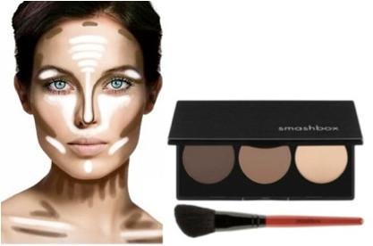 Makeup Contouring 101 #facechart #faceshapes #highlight #bronzer #contour #smashbox