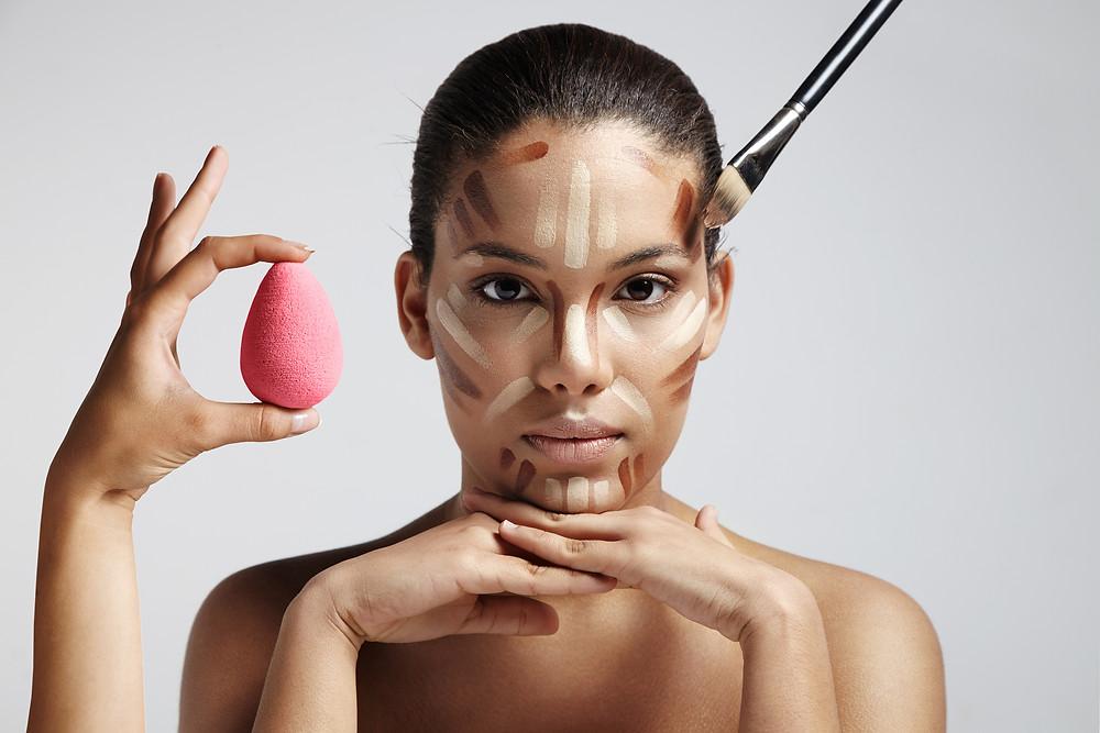 Makeup Contouring 101 #facechart #faceshapes #highlight #bronzer #contour #beautyblender