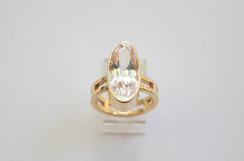 14kt Gold Large Marquise Kunzite Ring. Stone Weight: 9.45ct Price: $1600