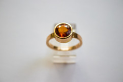 14kt Gold Round Dark Citrine Ring. Stone Weight: 2.31ct Price: $650