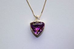 14kt Gold Trillion Cut Ametrine Pendant Stone Weight: 10.63 cts Price: $1800