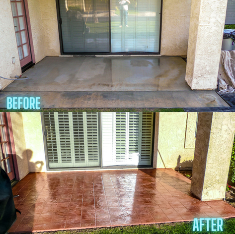 Before-After Patio photo_Stone Classic Floor System