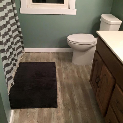 Hallmark Floor System_Wood Look Application_Bathroom Floor