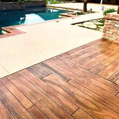 Hallmark Floor System_Wood Look Application_Pool Deck Area