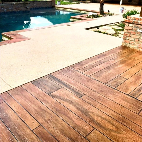 Hallmark Floor System_Wood Look Application_Pool Deck Area