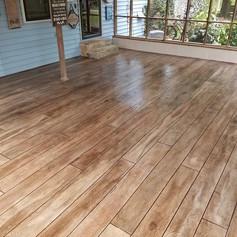 Hallmark Floor System_Wood Look Application_Patio Floor