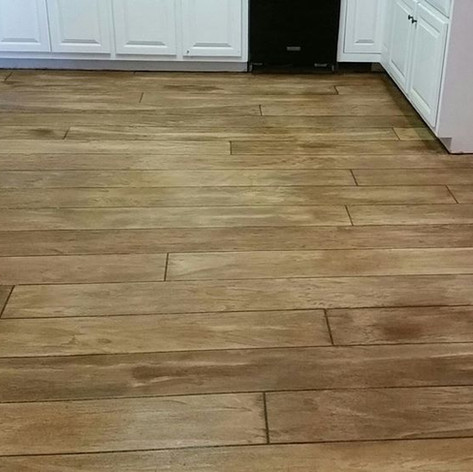 Hallmark Floor System_Wood Look Application_Basement Floor