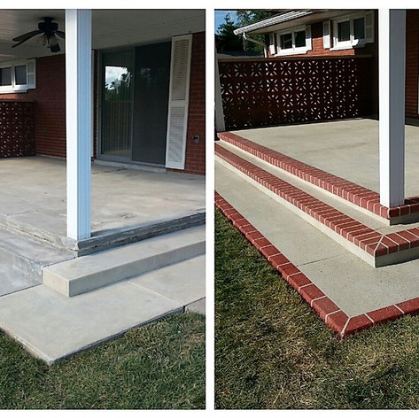 Before-After Patio photo.
