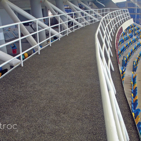 Soft sport stadium Walk path