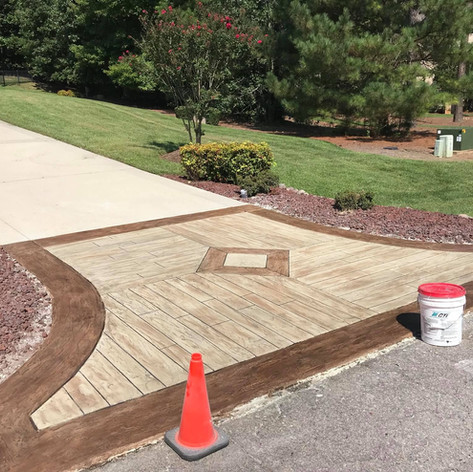 Hallmark Floor System_Wood Look Application_Driveway