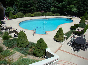 Decorative Concrete Around Pool