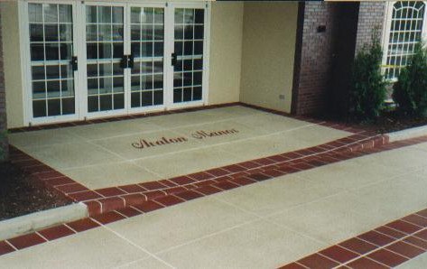 Decorative Concrete-Entrance