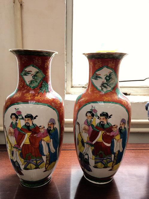 二手燈籠花瓶(一對)