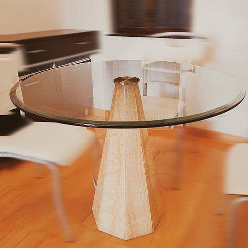 二手玻璃 雲石腳餐桌 會議桌(已售)