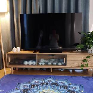 日式實木玻璃電視櫃
