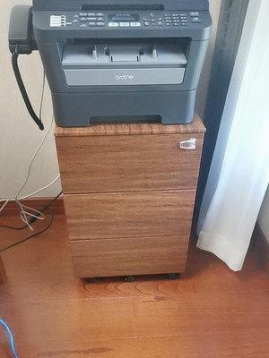 二手深色木紋推櫃桶