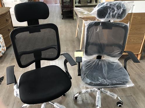 黑色人體工學椅(可升降)