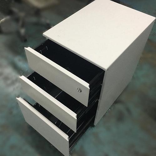 二手白色三層鐵推柜桶 檯底柜桶
