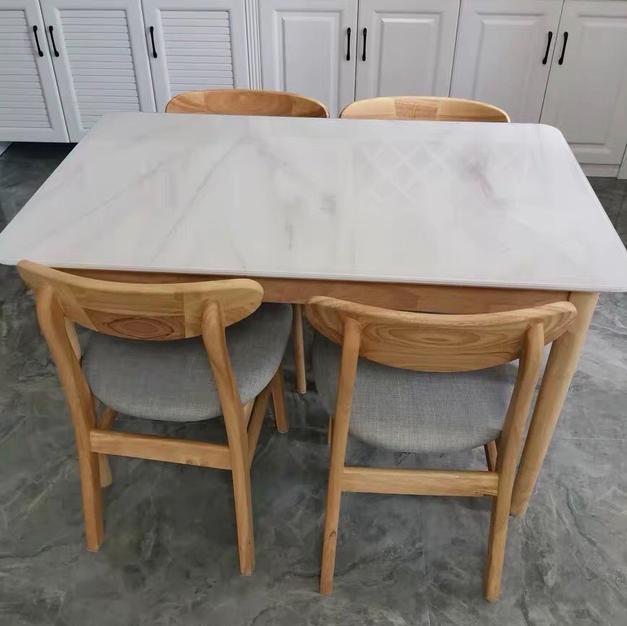 雲石紋玻璃餐桌