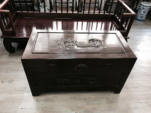 二手中式古典樟木箱子(SOLD 已售)