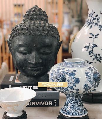 香港古董店中式古玩佛首擺設佛像.jpg