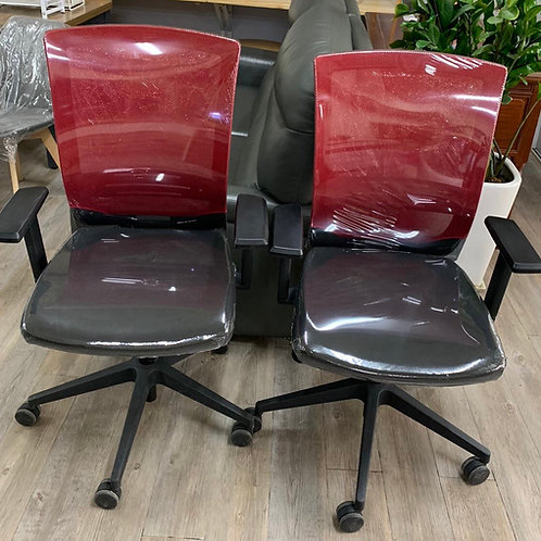 二手電腦椅(紅黑)